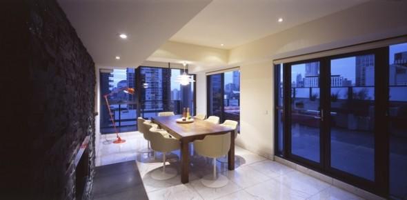 modern apartment melbourne dining room