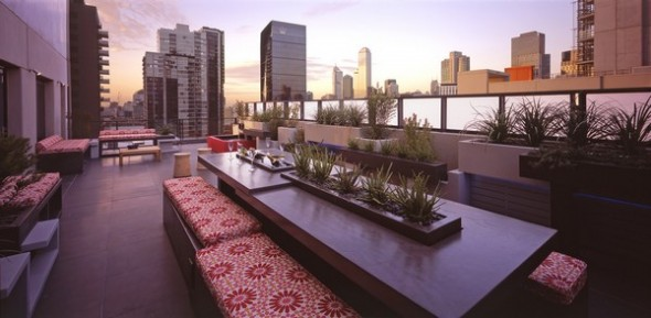 modern apartment melbourne outdoor table