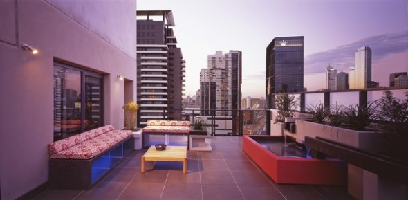 modern apartment melbourne view