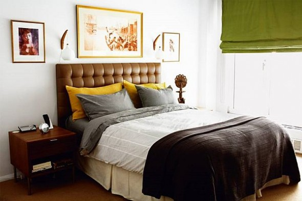 modern loft new york danish bedroom