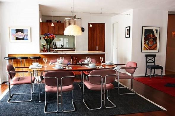modern loft new york danish dining room