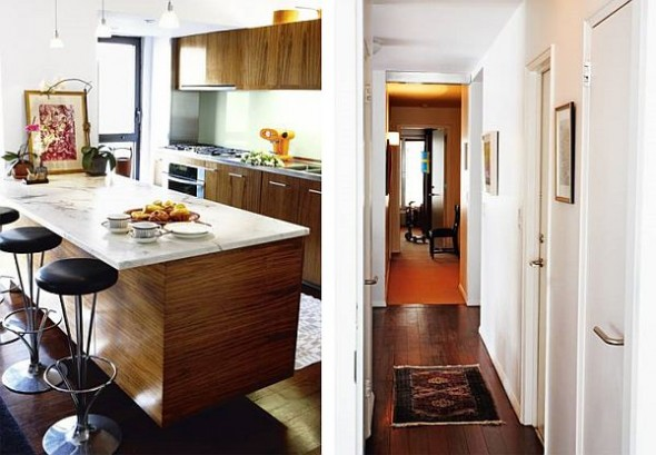 modern loft new york danish kitchen