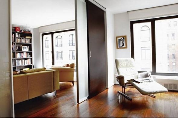 modern loft new york danish study room
