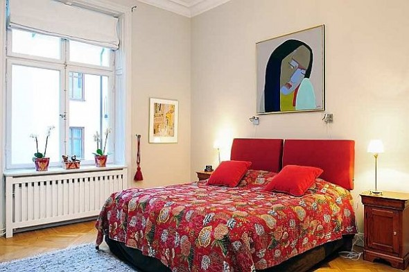 Beautiful bedroom Traditional Swedish Apartment