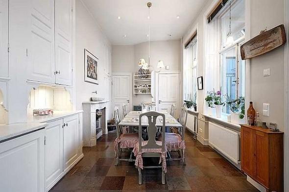 Beautiful dining room Traditional Swedish Apartment