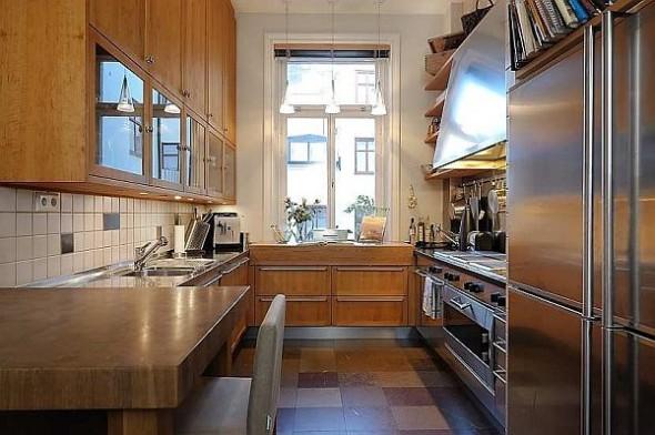 Beautiful kitchen Traditional Swedish Apartment