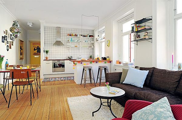 cozy dining living kitchen apartment in Linnaeus Town