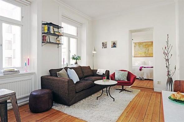 cozy living room sofa apartment in Linnaeus Town