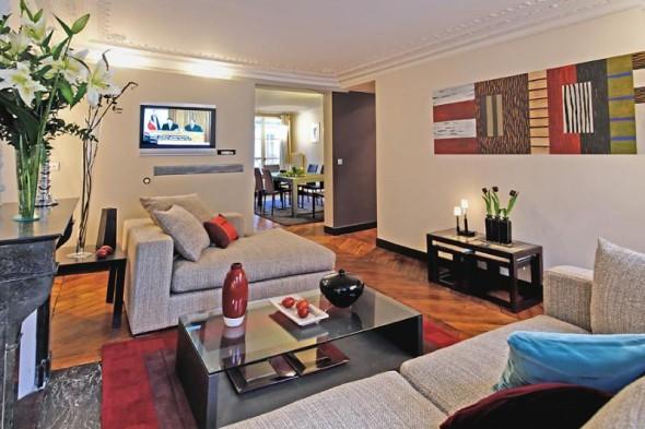 fun apartment living room design