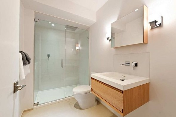 modern manhattan apartment bath room