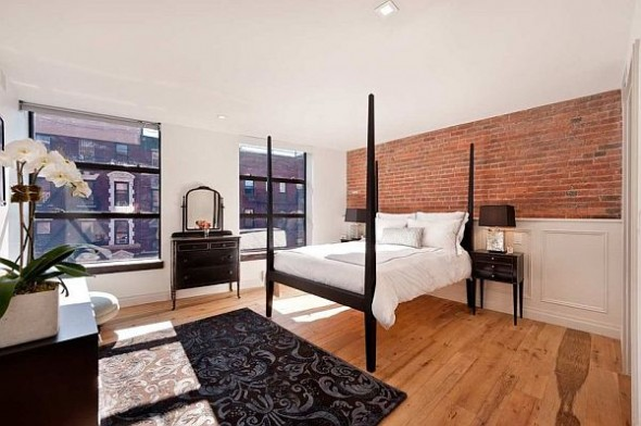 modern manhattan apartment bedroom