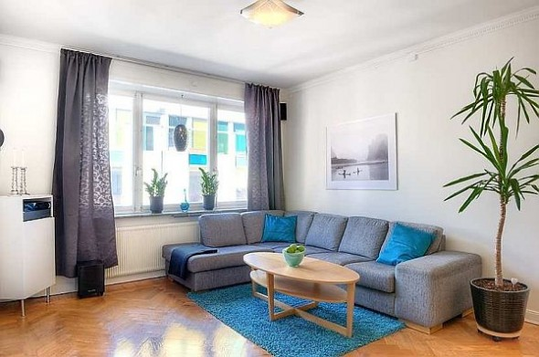 two bedroom apartment living