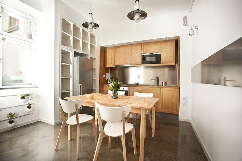 Kitchenette Small Polish Apartment Designs
