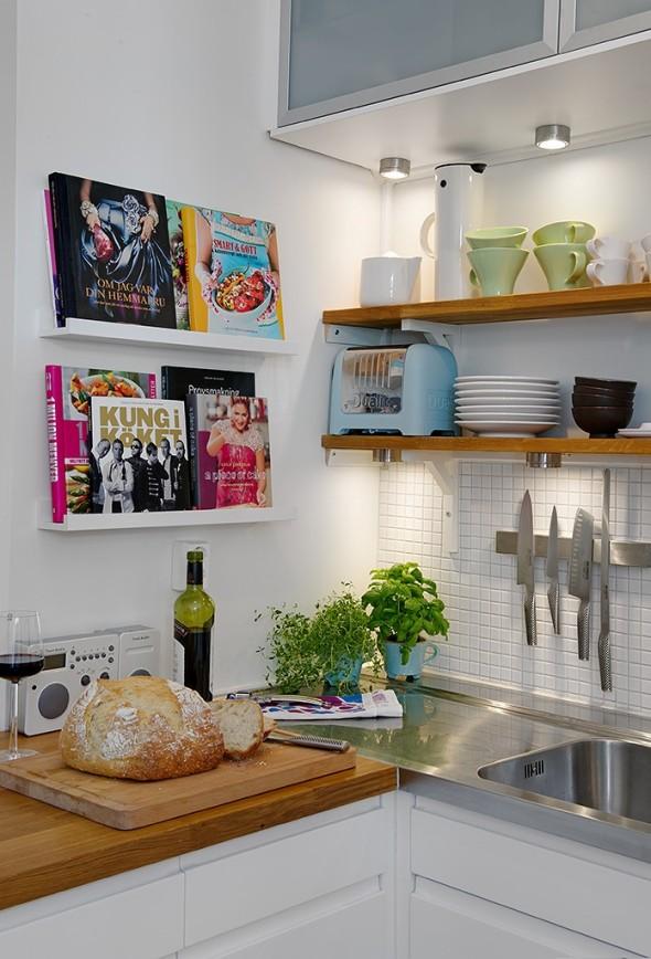 Linnestaden Apartment - Open shelves & downlights