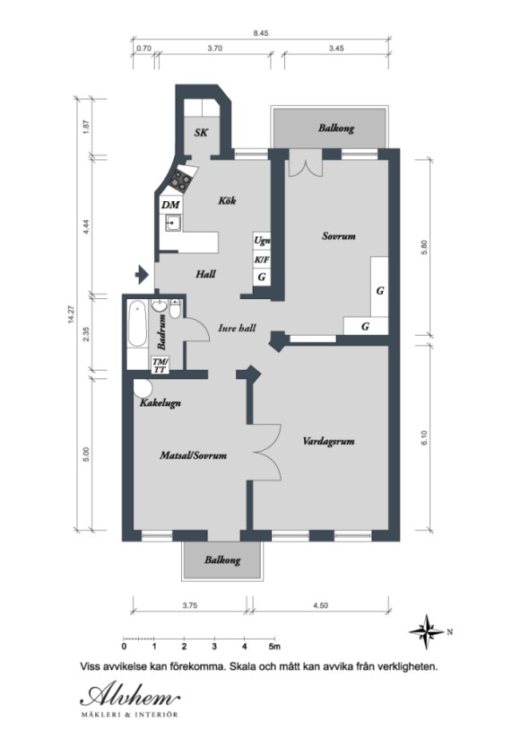 Linnestaden Apartment - Sketches