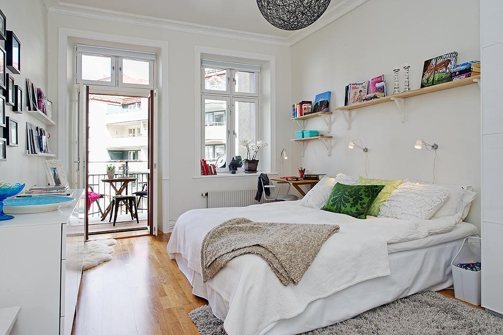 Linnestaden Apartment - large bedroom