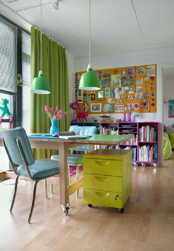 Colorful Apartment Organized Chaos ideas