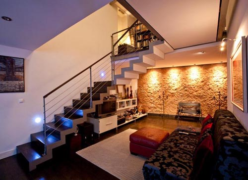 portugal delightful apartment living room design