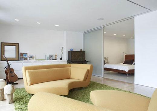 sofa-Apartment Interior by Slade Architecture
