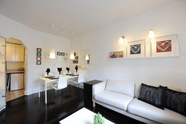 Black and White Living room Apartment Decor